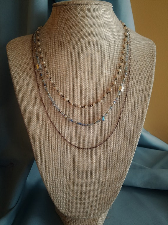 """Elegant Rosary Chain Necklace 18"""""""