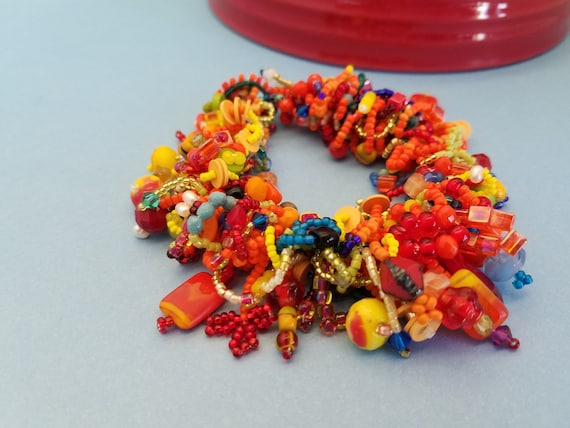 Colorful Fiesta Soutache Bracelet Handmade Beaded Jewelry