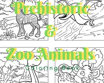Dinosaurs and Zoo Animals Coloring Pages - DIY - Print Yourself