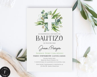 Invitacion Bautizo Etsy