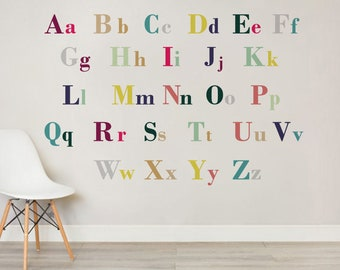 L Wooden Jungle Animal Upper Case Alphabet Letters Self Adhesive