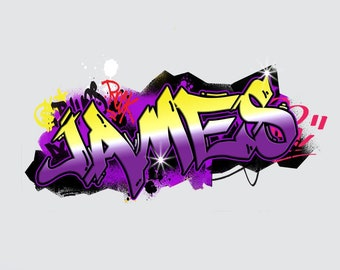 Graffiti PERSONALIZED NAME Decal WALL STICKER Home Decor Mural Street Art WP165