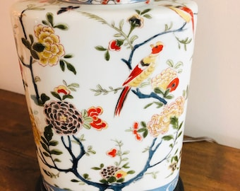 Chinese Lamp with Flowers and Pheasants