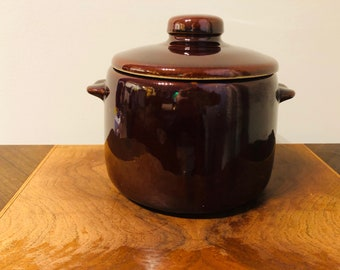 Brown Betty Bean Crock,bean pot,West Bend crock,vintage cooking,kitchen,birthday gift,Mother's Day,housewarming,pottery,Mid Century