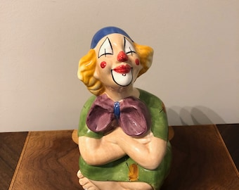 Baby room, Nursery accent, decoration, Vintage, Italian Clown Figurine, Gift,Birthday,Mother's day,Weddings,Collectible