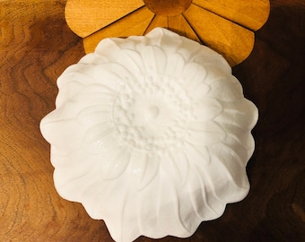 White Sunflower Bowl, Candy dish, Easter decorations, Bridal Shower, Baby Shower, end table dish