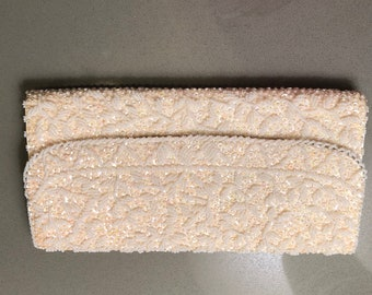 La Royale, evening bag, made in Hong Kong, beaded/ sequence, 1965, original box, vintage, bridal, formal wear, wedding, bridal shower, gift