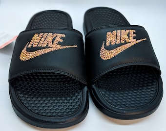reputable site 8215b e54ac Nike slides | Etsy