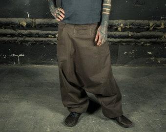 01281efa4 Samurai Pants | Harem Pants Men | Ninja Pants | Pumphose | Drop Crotch Pants  | Goa Pants | Alibaba Pant Army