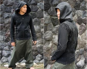 Cyberpunk Jacket | Post Apocalypse | Star Wars Cosplay | Jedi Costume | Apocalyptic Clothing | Star Wars Armor | Spine Jacket Black