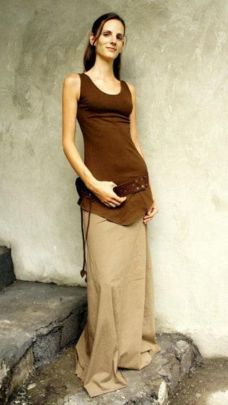 Roundcut Dress Brown