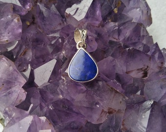 Lapis Lazuli Pendant / Sterling Silver / Sagittarius Birthstone