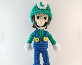 Luigi With Removable Hat Crochet Pattern / Amigurumi Luigi/ Amigurumi Pattern / Crochet Pattern