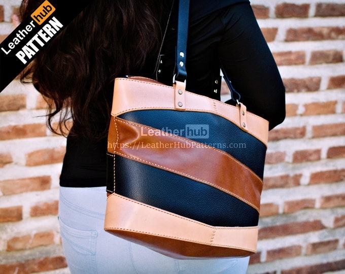 Tote bag leather pattern PDF - by Leatherhub