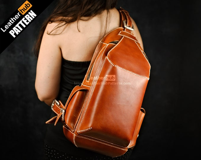 Sling bag leather pattern PDF - by Leatherhub
