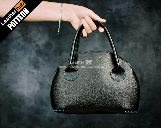 Purse leather pattern PDF - by Leatherhub