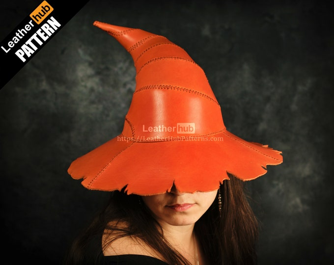 Wizard hat leather pattern PDF - by Leatherhub