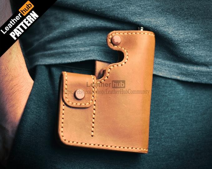 Vape bag leather pattern PDF - by Leatherhub