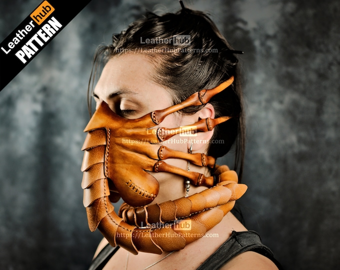 Facehugger leather pattern PDF - by Leatherhub