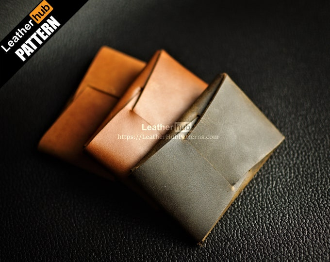 Folded wallet leather pattern PDF - by Leatherhub