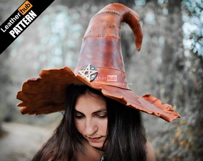 Witch hat leather pattern PDF - by Leatherhub