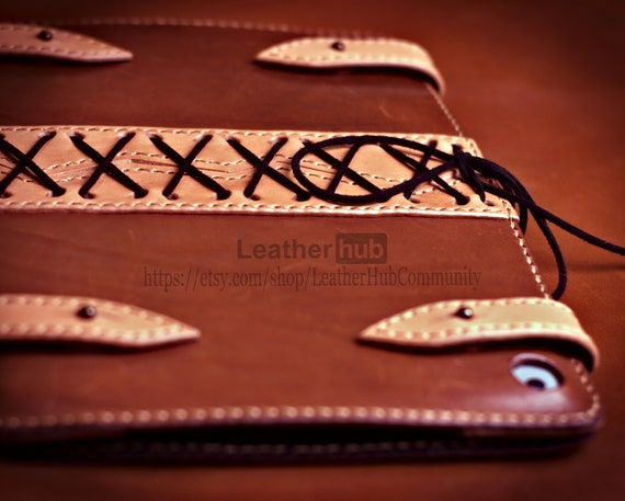 Leather Ipad case pattern PDF - PDF leather template with leather craft instructions - DIY leatherwork patterns for leather crafting
