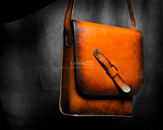 Leather messenger bag. A unique a gift or collectible item for a man