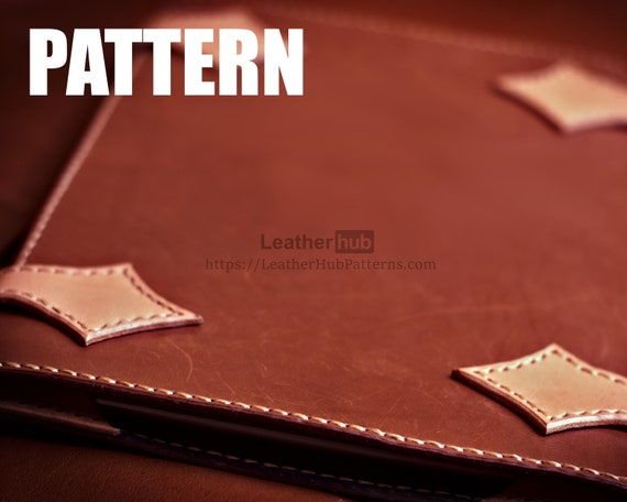 "Leather pattern for the 10.5"" Ipad with PDF template and assembly guide"