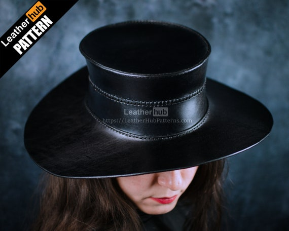 Plague hat leather pattern PDF - by Leatherhub