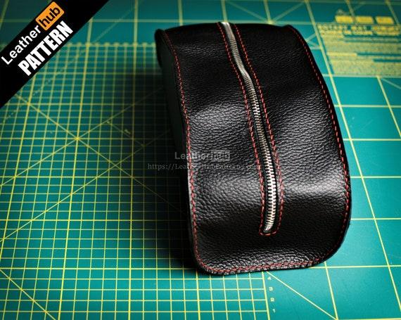 Dopp bag leather pattern PDF - by Leatherhub