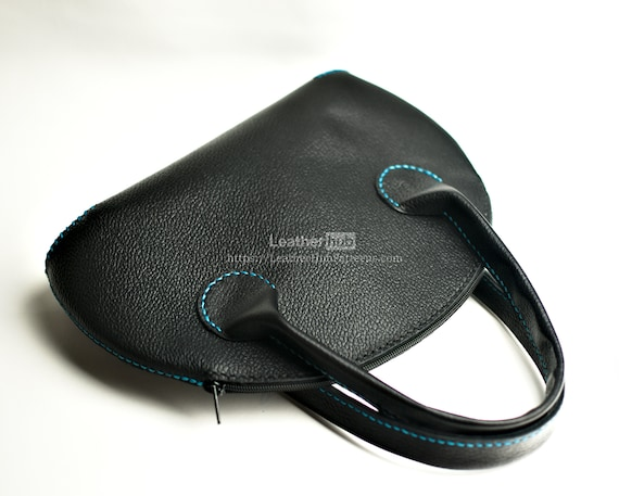 Purse pattern for leather craft PDF bag template and hand sewing tutorial