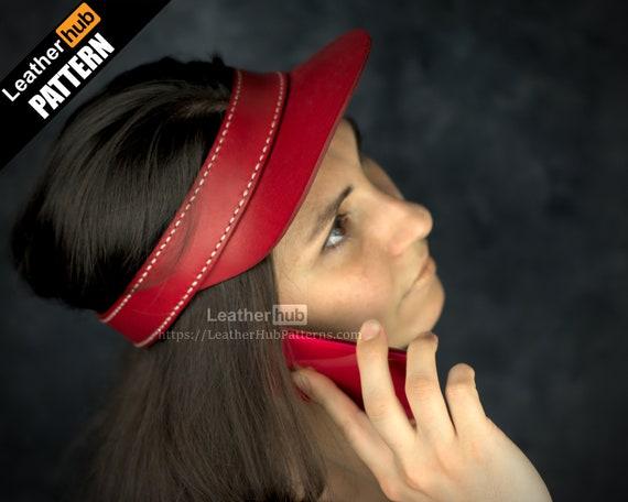 Leather sun visor pattern PDF - by Leatherhub