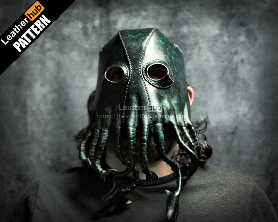 Cthulhu mask leather pattern PDF - by Leatherhub