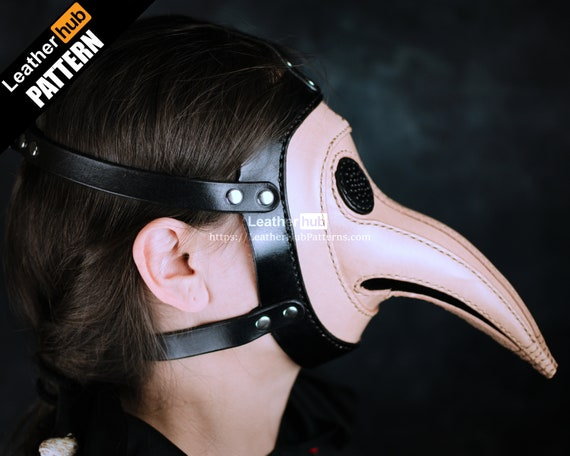 Plague doctor mask leather pattern PDF - by Leatherhub