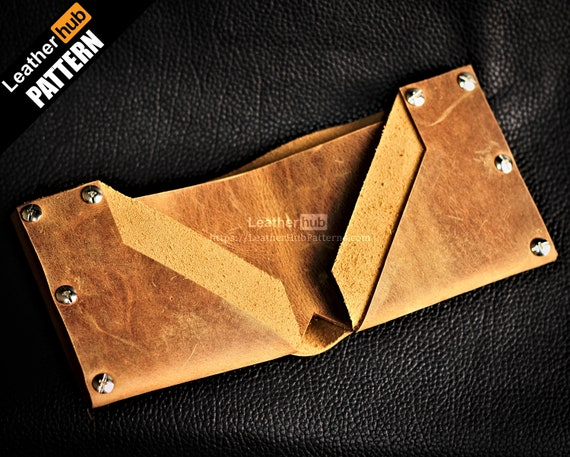 Wallet leather pattern PDF - by Leatherhub