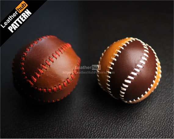 Baseball leather pattern PDF - by Leatherhub