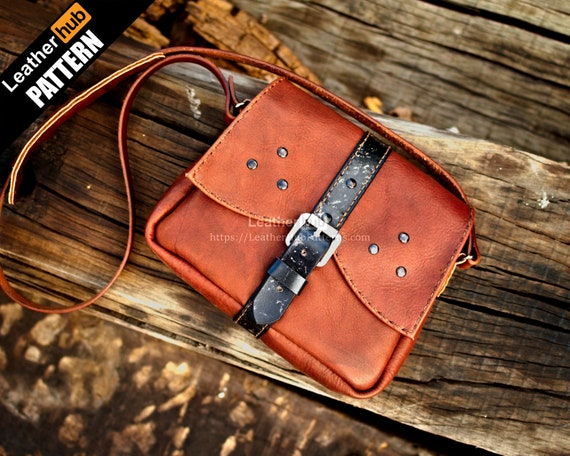 Witcher bag leather pattern PDF - by Leatherhub