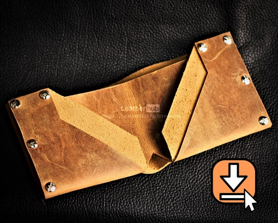 Leather pattern PDF wallet template and tutorial