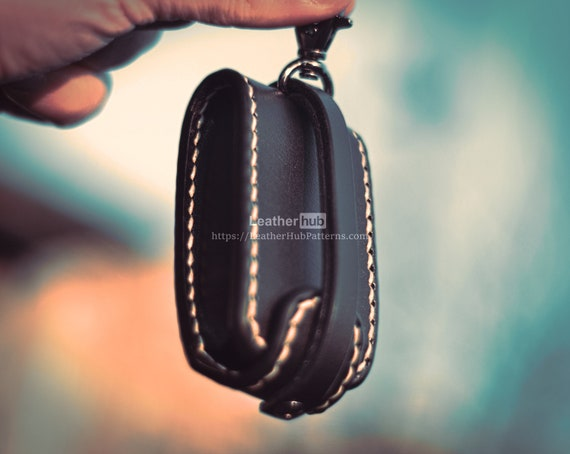 Leather car remote case pattern PDF - PDF leather template for leather craft - DIY leather car key case pattern for leather workers