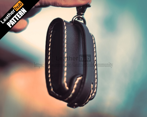 Car key case leather pattern PDF - by Leatherhub