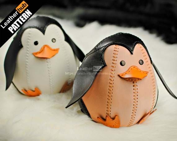 Penguin leather pattern PDF - by Leatherhub