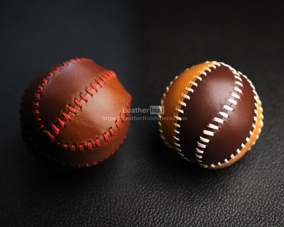 Baseball ball pattern for leather craft - PDF template for making a leather Baseball ball with video tutorial for leather working