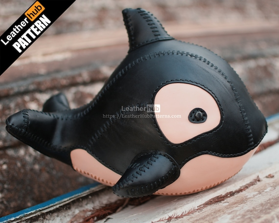 Orca whale leather pattern PDF - by Leatherhub