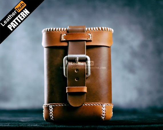 Hip bag leather pattern PDF - by Leatherhub