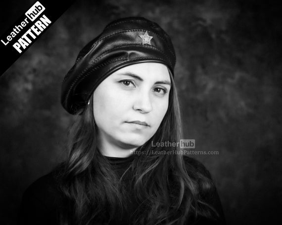 Leather beret pattern PDF - by Leatherhub