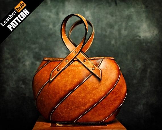 Gospodeyna leather tote pattern PDF - by Leatherhub