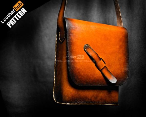 Leather bag pattern PDF - by Leatherhub