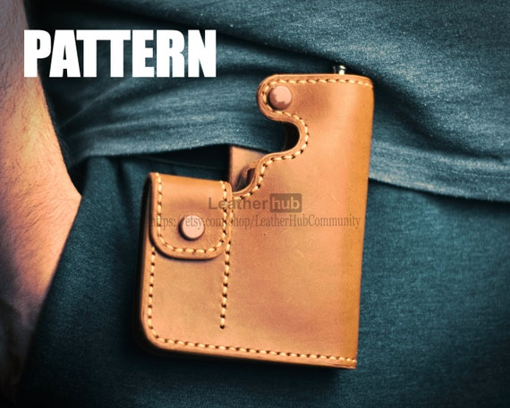Leather vape bag pattern - PDF template and instructions