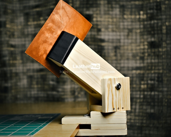 Stitching pony pattern PDF - PDF leather template for making a DIY stitching pony with video tutorial - Leather patterns for leather workers