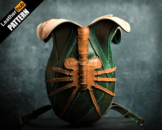 Facehugger egg leather backpack pattern PDF - by Leatherhub